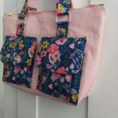 Sac Boléro rose et bleu printanier cousu par Ingrid's Sewing - Patron Sacôtin