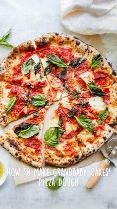 Neapolitan Pizza Dough Recipe, Neopolitan Pizza, Best Pizza Dough Recipe, Homemade Pizza Recipe, Italian Pizza Dough Recipe, Vegan Pizza Recipe, Vegetarian Pizza, Vegetarian Recipes, Italian Dishes