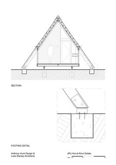 Galerie von JR's Hut im Kimo Estate / Anthony Hunt Design + Luke Stanley Architects – 20 - Jagd A Frame Tent, A Frame Cabin, Tiny House Cabin, Cabin Homes, Cabin Design, Tiny House Design, Pyramid House, Triangle House, A Frame House Plans