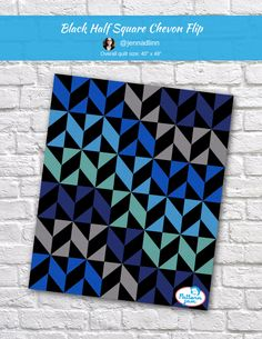 Black half Square Chevon Flip - custom quilt designed by using PatternJam quilt design software Man Quilt, Book Quilt, Antique Quilts, Vintage Quilts, Quilt Storage, Quilt Modern, Rainbow Quilt, Half Square Triangle Quilts, Quilt Block Patterns