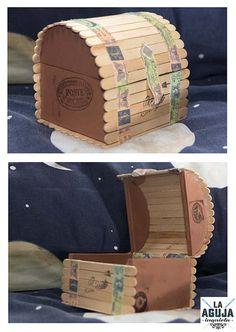 Estreno blog con el tutorial de esta preciosa caja realizada a base de palos de helado. Es muy fácil, la