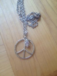fun peace sign necklace by FarmHouseJewels on Etsy