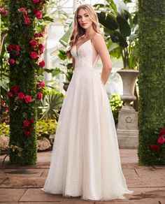 Weddings - Zoom in to check out the gorgeous details of MikaellaBridal Best Wedding Dresses, Designer Wedding Dresses, Bridal Dresses, Wedding Gowns, Bridesmaid Dresses, Bridesmaids, Lace Wedding, Mikaella Bridal, Princess Ball Gowns