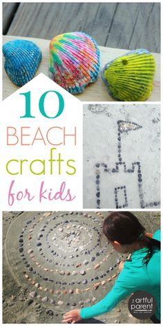 10 Ocean Crafts for Kids to Do at the Beach (for a More Creative Trip) is part of Beach crafts To Make - 10 fun ocean crafts for kids to make your next beach trip more creative Includes melted crayon shells, sandcasting, sea shell mandalas, fish paintings Beach Crafts For Kids, Ocean Crafts, Beach Kids, Summer Activities For Kids, Summer Crafts, Craft Activities, Crafts To Do, Decor Crafts, Art For Kids