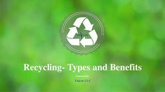 Recycling your unused stuff is good for the environment. There are lots of benefits you can avail from recycling. By recycling, people can prevent millions of … Benefits Of Recycling, Waste Paper, Everyday Items, Life Cycles, Destruction, Save Energy, Are You Happy, Environment, Positivity