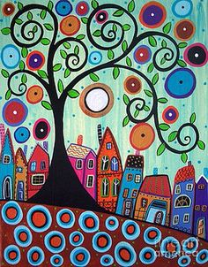 I love Karla Gerard's work. She is painting anything she wants and she's not afraid to express herself.