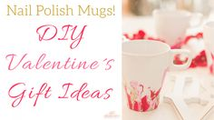Make these mugs with leftover Nail Polish! Super easy and it looks so good!