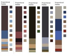 Jeweltone Summer/The Glamorous Career Girl   Colours extracted from paintings by Ingres