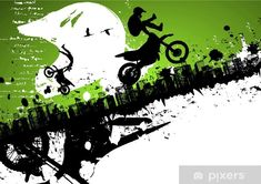 Tire track room border stencils WOOT Bike room, Dirt