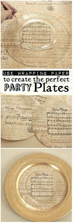 use fun wrapping paper for a place setting  |  great for establishing a theme to your dinner party