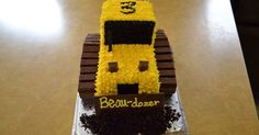 We just celebrated my son's 3rd birthday! He is REALLY into construction machinery, so I found a cute bulldozer cake on Pinterest to make. S...