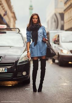thigh high boots, thigh high boots street style, (10)