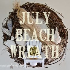 July wreath http://countrydesignstyle.com