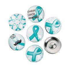 61540719f8a Large Teal Awareness Ribbon Snap Beads - OrientalTrading.com Endometriosis  Awareness, Awareness Ribbons,