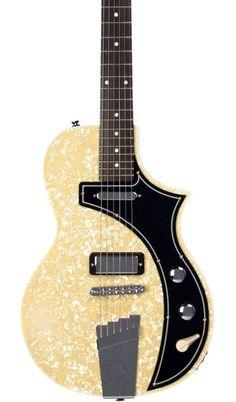 Eastwood Guitars The Continental by Jeff Senn Pearloid Featured #vintageguitars