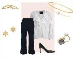 Et lækkert og klassisk look med et par lækre 70\'er bukser, et par lækre stiletter og en skøn og fin hvid skjorte. Denne kombination af tøj gør det muligt at benytte looket til forskellige begivenheder. Det kan både gå som et fedt og stylet hverdagslook, men kan bestemt også bruges i en anden sammenhæng.