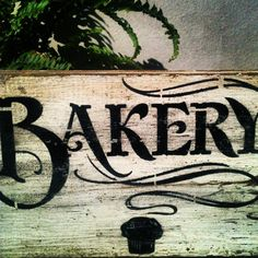 Reclaimed Wood made into Bakery Sign