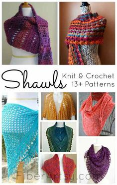 13+ Shawl Patterns for Knit & Crochet, Check out these (mostly) free patterns for knitting and crochet on FiberArtsy.com