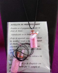 "BOTELLITA DE PROPÓSITO "" AMOR "". para conseguir, encontrar o mantener el Amor. 10€"