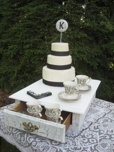 Shabby Chic Wedding Cake Stand Box One of a by YourDivineAffair, Etsy