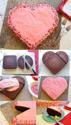 Heart Shaped Cake Recipe - AllDayChic