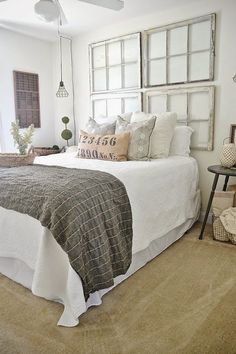 I am in love with this room! Guest Bedroom makeover on a budget! See how thrifted finds, a little paint, & some DIY made this guest bedroom lovely! Chic Bedroom, Guest Bedroom Makeover, Bedroom Decor, Industrial Style Bedroom, Home, Bedroom Inspirations, Guest Bedrooms, Home Bedroom, Home Decor
