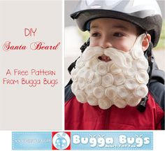 Bugga Bugs: Free DIY Santa Beard Pattern- Def doing this for advent activity!