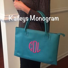 #purse #teal #kaileysmonogram #monogram