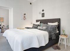 Image result for wystrój z białym łóżkiem