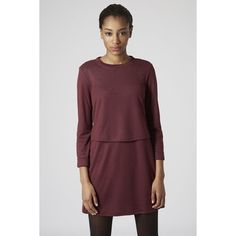 TOPSHOP Linear Jersey Overlay Dress (Maroon) TOPSHOP Linear Jersey Overlay Dress (Maroon) Worn once  Size marked: 10 Fits: Medium/Large ⭐️Make an offer!⭐️ Topshop Dresses