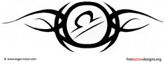 Tribal libra symbol tattoo design