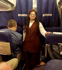 """Heba Atef became the first-ever Egyptian flight attendant with Down syndrome to embark on a special flight from Cairo to Khartoum entitled """"The Journey of Humanity,"""" starting on Saturday, November 30 and lasting until Thursday, December International Books, Disability Awareness, Mass Communication, Down Syndrome, Tv Presenters, Training Center, Flight Attendant, Special Needs, Cairo"""