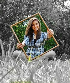 Neat idea.  Except, I think that blade of grass in the front (and her hands) should be b&w too.