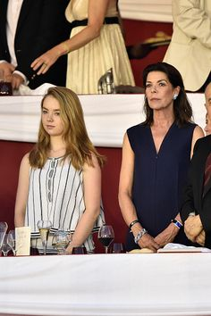 Princess Alexandra of Hanover and Caroline of Hanover attend the Longines ProAm Cup Monaco during the 10th International Monte-Carlo Jumping on June 26, 2015 in Monaco, Monaco