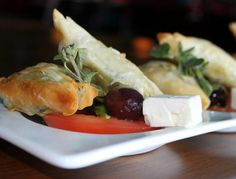 Spanakopita at Jovian's restaurant in Dallas. At DNT and Frankford!
