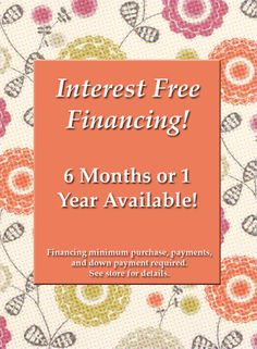 Take advantage of our excellent financing offers!