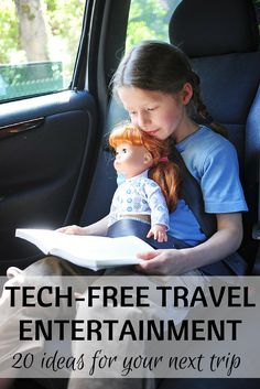 No iPad Necessary: 20 Tech-Free Travel Entertainment Ideas for Kids - Inexpensive and creative products to keep your kids entertained and happy on road trips and airplane flights without an iPhone, iPad, or screen.