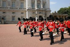 Changing of the Guard at Buckingham Palace in London, England - 2008  I had a front row view...