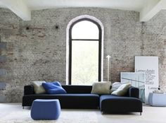 Low sectional sofa