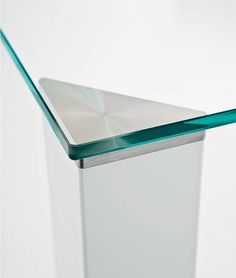 Square Glass And Steel Table JEAN SQUARE   SOVET ITALIA