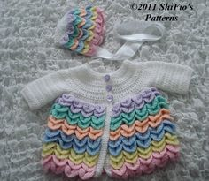 Free+Crocodile+Stitch+Scarf+Pattern   Crochet Pattern Crocodile Stitch Matinee Jacket #181 USA Terms