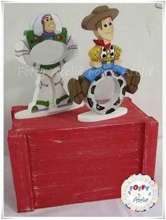 Baleiros Toy Story Lembrança ou Centro de Mesa Feito em MDF. Pintado a mão.  Orçamentos por email: foffyartes@gmail.com