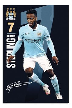 Manchester City Raheem Sterling 2015 / 16 Poster | iPosters