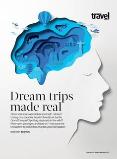 Wonderful illustration be Eiko Ojala for our dream trips roundup. Wonderful illustration be Eiko Ojala for our dream trips roundup. Poster Design, Poster Layout, Graphic Design Posters, Graphic Design Inspiration, Poster Ideas, Magazine Layout Design, Magazine Cover Design, Magazine Covers, Magazine Layouts