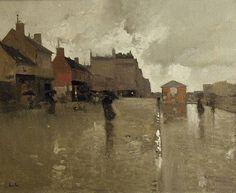 Luigi Loir (1845-1916) - Le Boulevard sous la Pluie, 1899