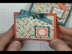 All you'll need is a quarter sheet of cardstock to make this super cute, super easy Petite Treat Box!! You're gonna love it! SUPPLY LIST: http://dostamping.typepad.com/dostamping_with_dawn/2013/02/video-easy-sale-a-bration-petite-treat-box-.html PINTEREST: http://pinterest.com/dostamping/ BLOG: http://www.dostampingwithdawn.com STAMPIN; UP! PR...