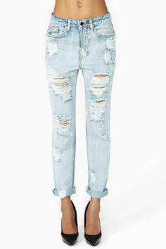 All Torn Up Boyfriend Jeans