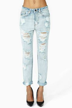 All Torn Up Boyfriend Jeans