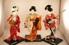 Set of 3 Kyugetsu Geisha Dolls Yamaha