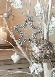 Christmas Hanging Mini Bell Star Single Tree Decoration (12cm) - Matalan